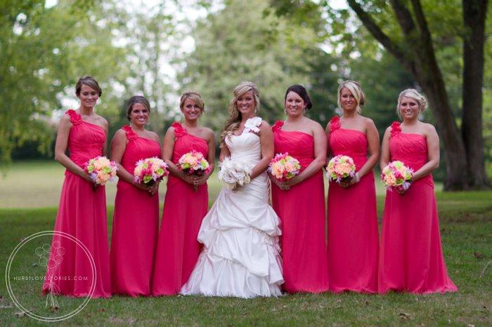 Wedding Bridal Party In Guava