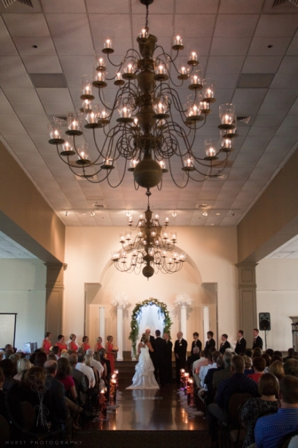 Wedding Ceremony With Arch Amp Columns Uaw Hall In Spring